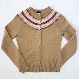 j.crew | fair isle wool cardigan.